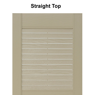 Mid-America Style L4 Close-up of Vinyl Outdoor Shutter Top