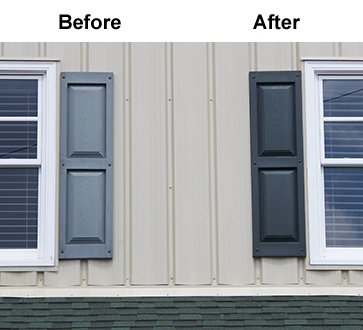 Vinyl Shutter Restoration is Easy with Shutter ReNu