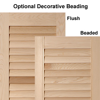 New England Style Outdoor Wooden Shutters with Beading