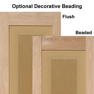 Decorative Beading on Wooden Raised Panel Exterior Shutters