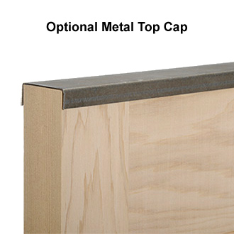 Optional Shutter Top Cap for StyleCraft Wood Shutters