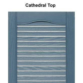 One Piece Louvered Plastic Shutter Cathedral Top